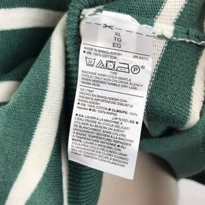 Old Navy Sweaters - Old Navy Green White Striped Sweater XL